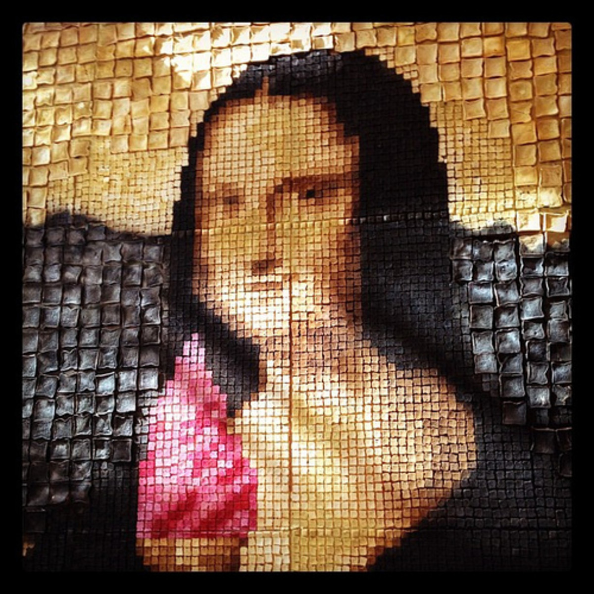 Many indignities have been visited upon the Mona Lisa including this representation in toast.