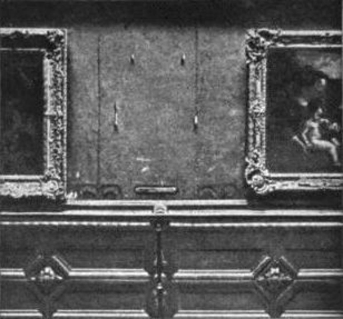 The empty space where La Gioconda had been hung.