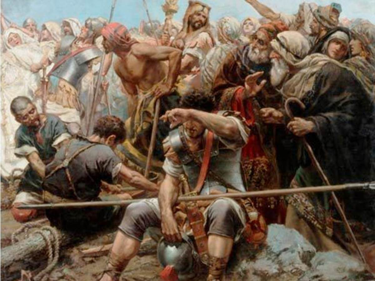 Jews and Roman at the Cross - Michele Cammarano