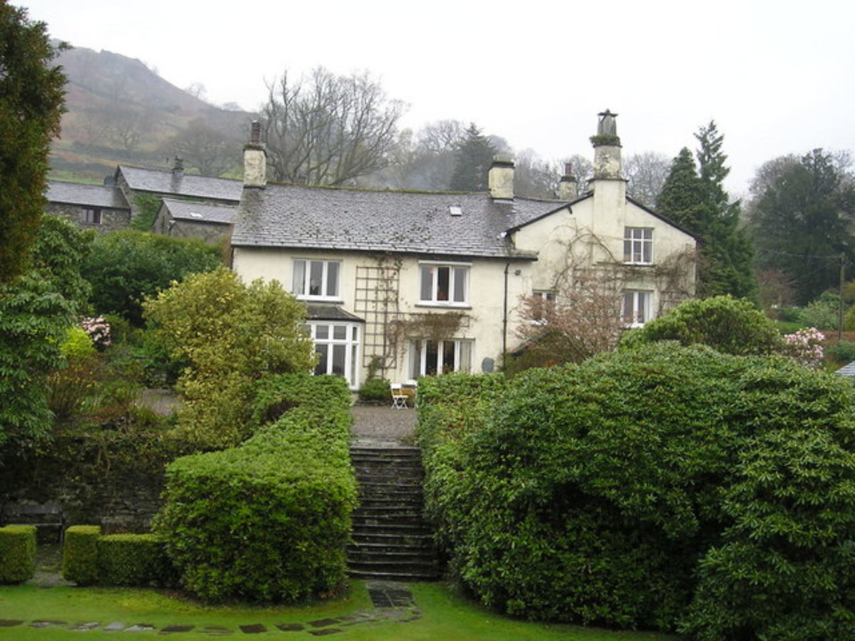 William Wordsworth's Home at Rydal Mount in Englands Lake District