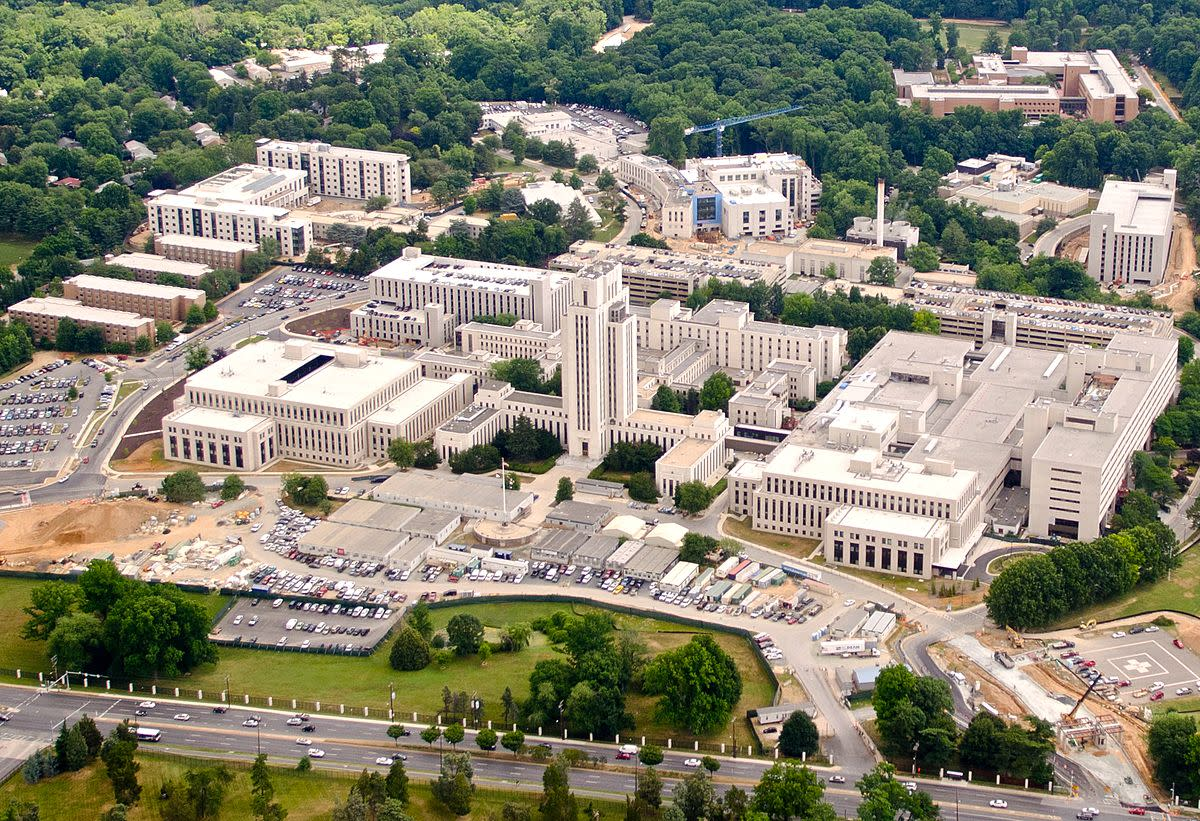 The Walter Reed National Military Medical Center located at Bethesda, Maryland in June 2011.
