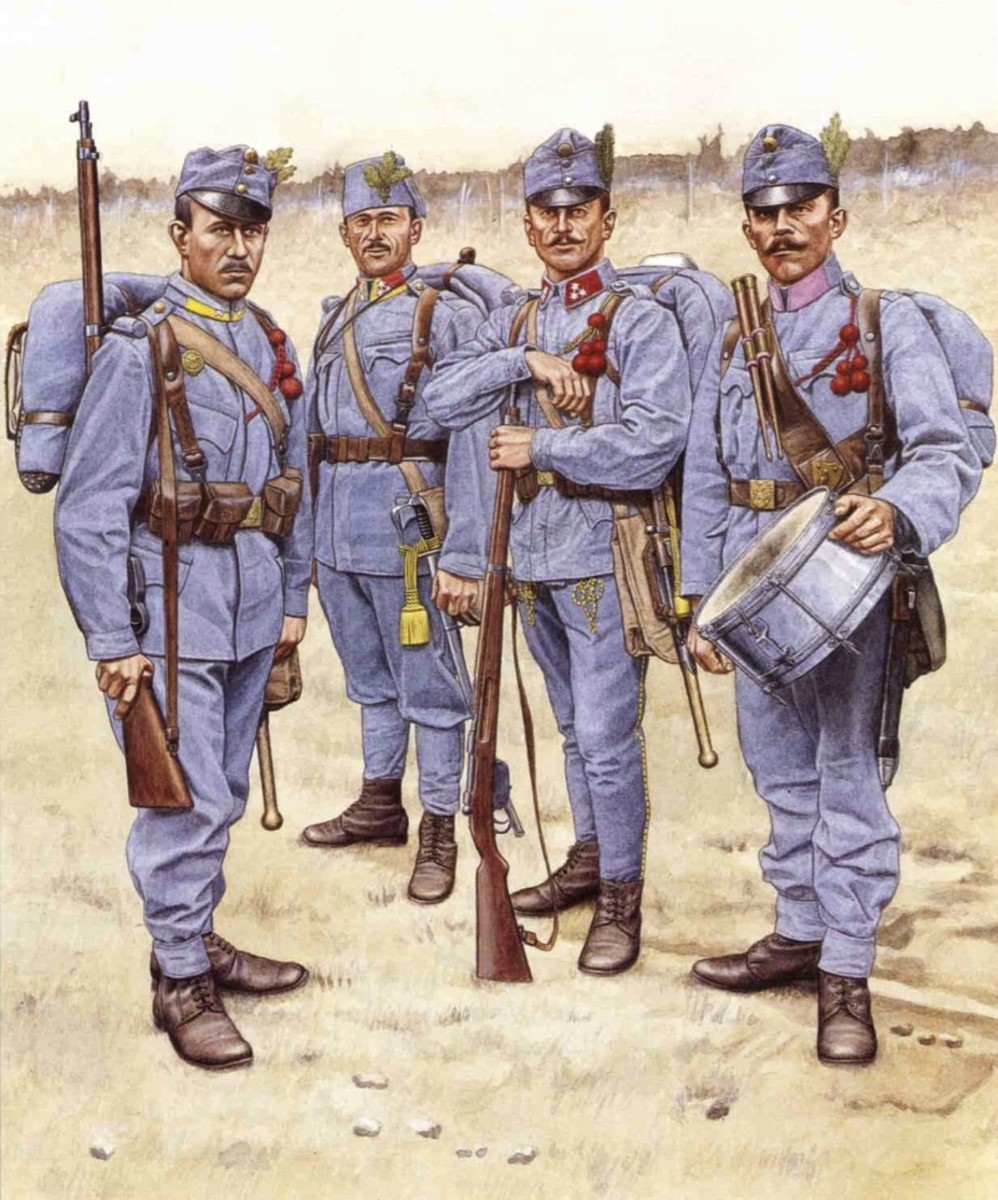 Infantry have the job of dying in every army, the Austro-Hungarians just made it into their sole occupation with suicidal attacks.