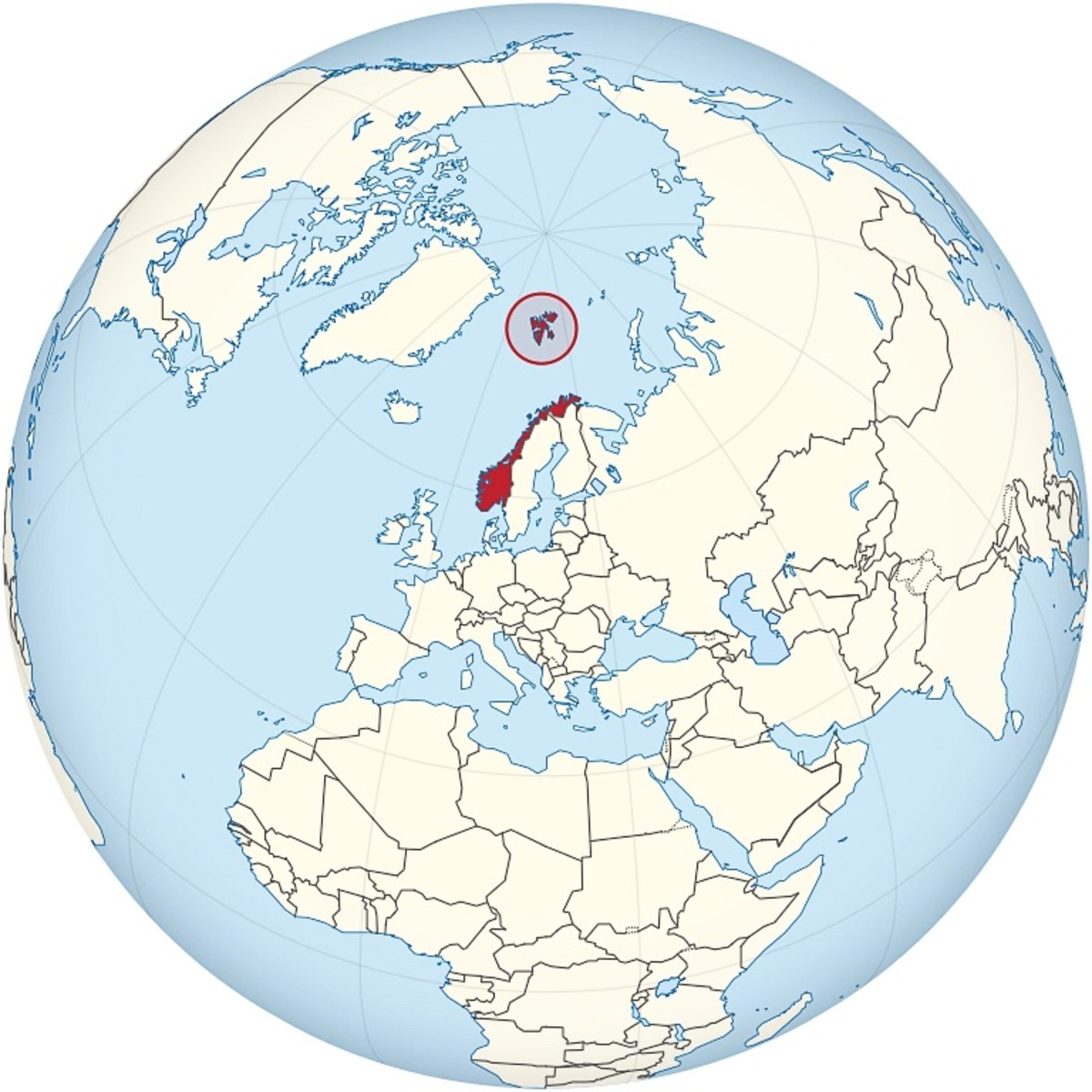 Location of Svalbard