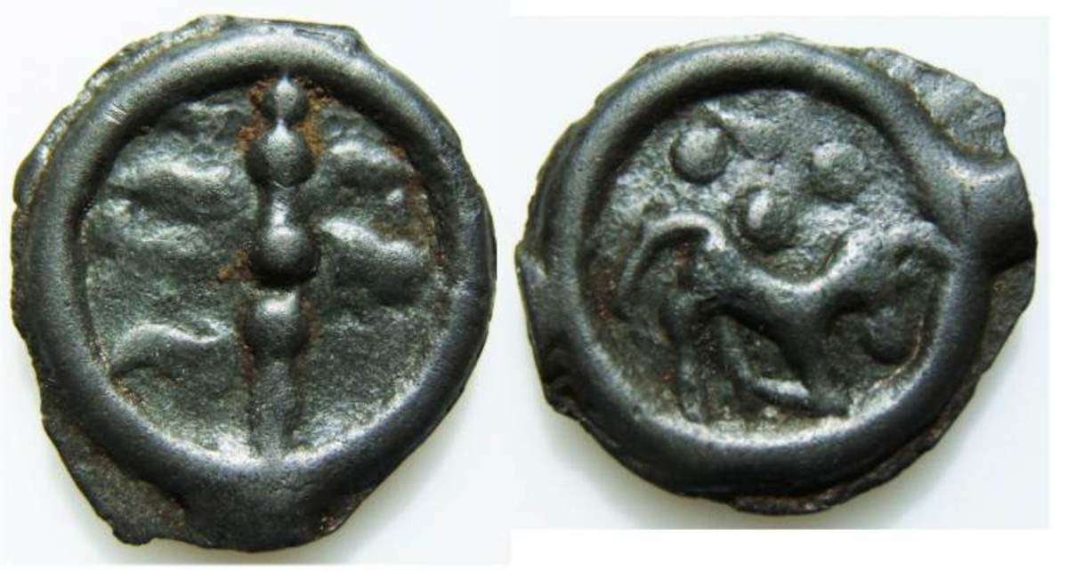Nervii coin depicting a horse