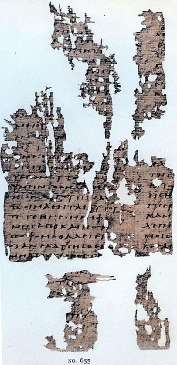 Gospel of Thomas fragment P.Oxy 655