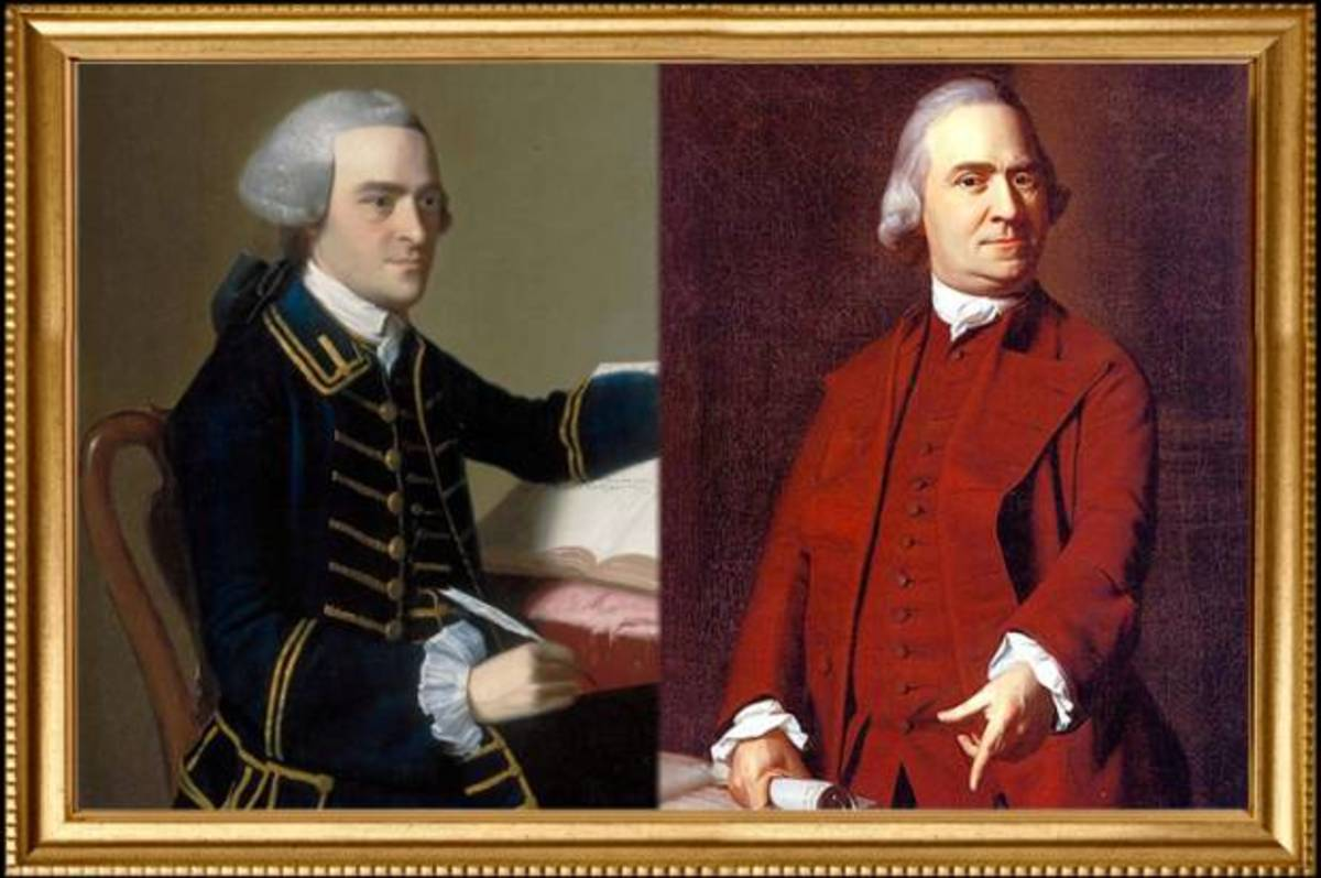 As the American Revolution approached, John Hancock and Samuel Adams became co-conspirators in the ouster of the British from Boston.