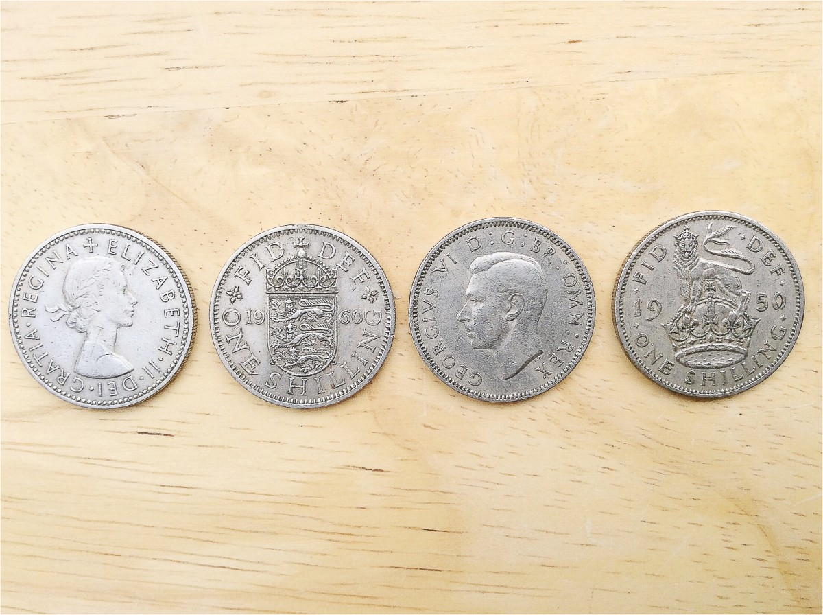 Shillings from my father's coin collection