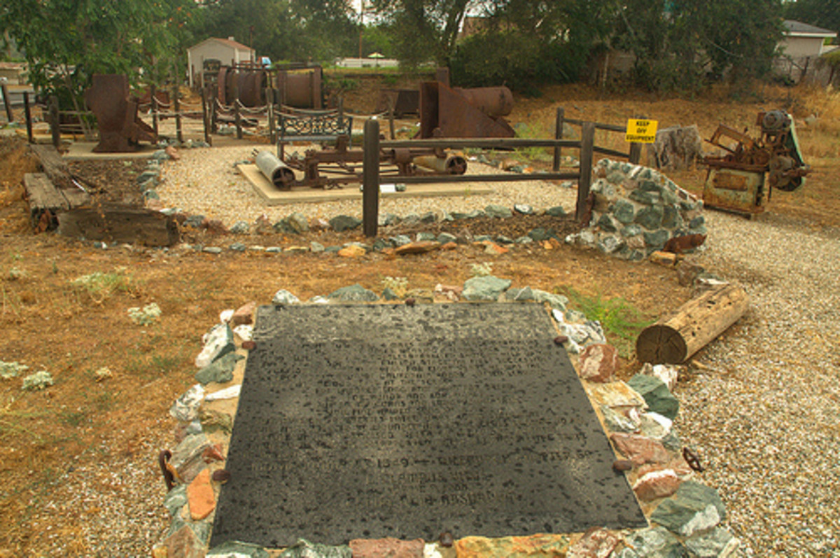 A memorial to Black Bart at Funk Hill.