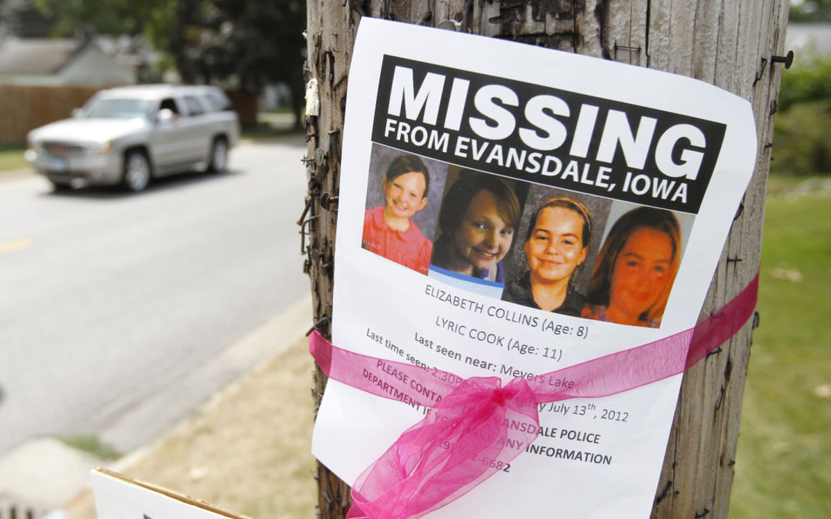 Fliers were posted throughout Evansdale and surrounding communities.