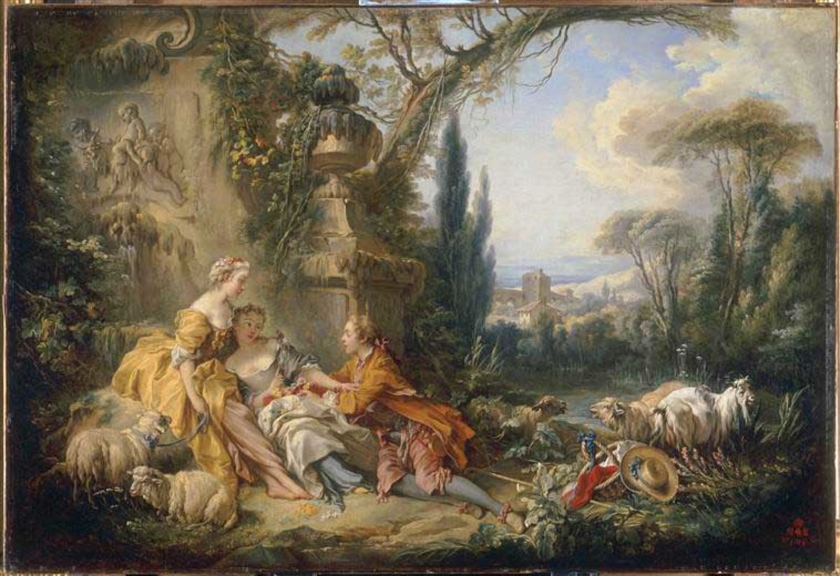 Les charmes de la vie champetre (Charms of the country life) 1737, by Francois Boucher (1703-1770)