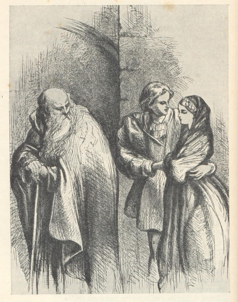 Friar Laurence, Romeo Montague and Juliet Capulet