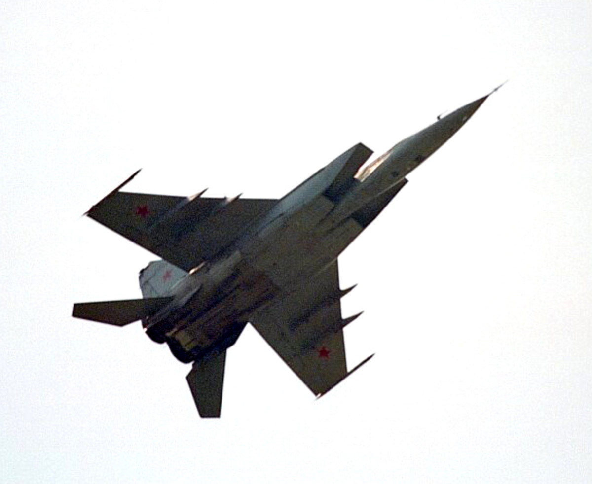 The MiG-25 was designed by the Soviet Union for the purpose of intercepting the SR-71.