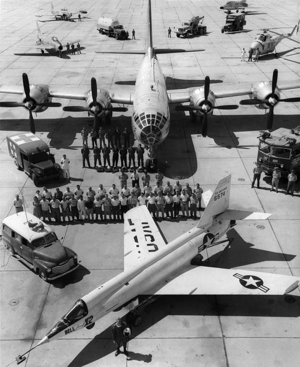 The X-2 with the B-50 that carried it.
