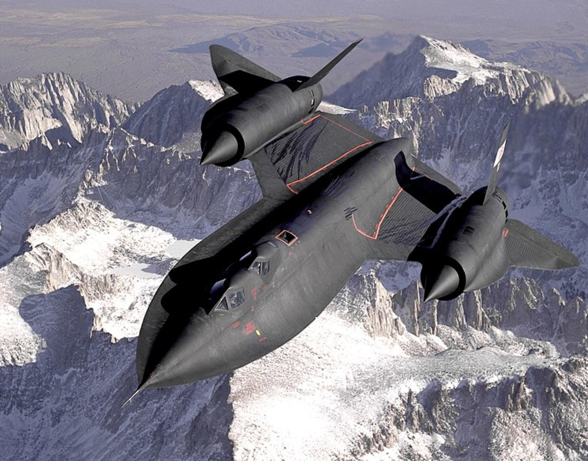 One of the most well-known military aircraft, the SR-71.