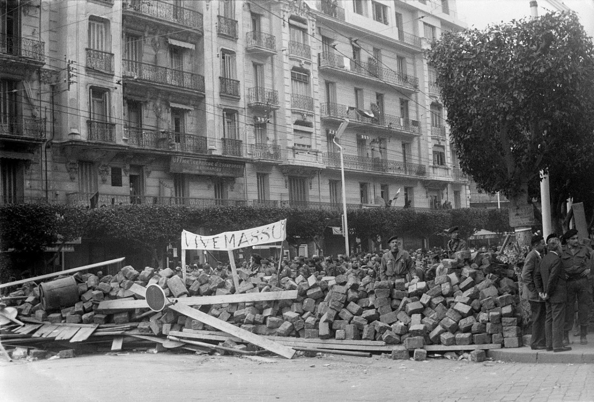 The Week of Barricades in Algiers, 1960, between French government authorities and those who wished to keep Algeria