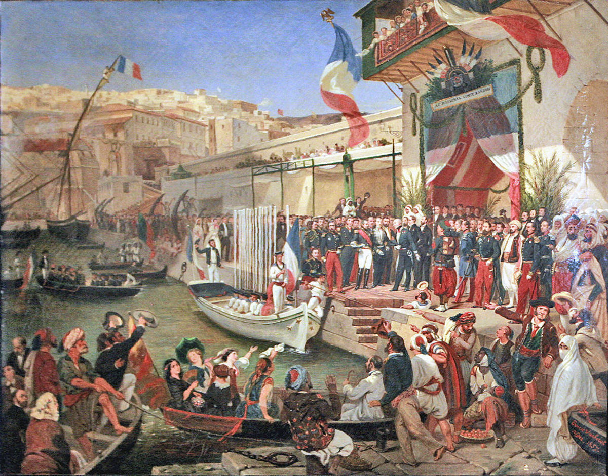 Arrival of Marshal Randon in Algiers in 1857