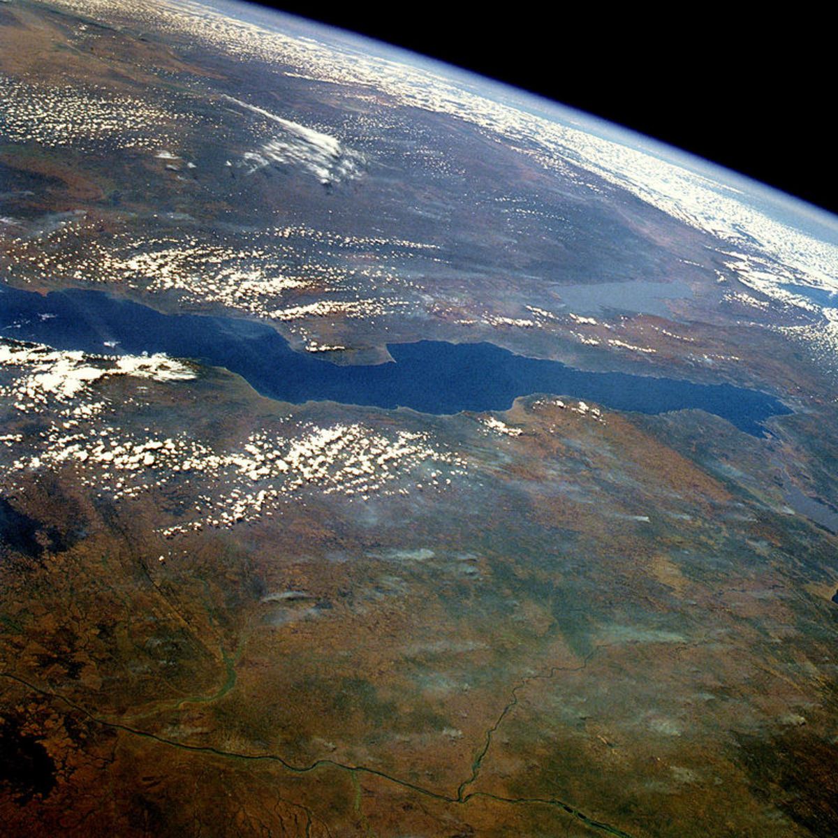 Orbital view of Lake Tanganyika