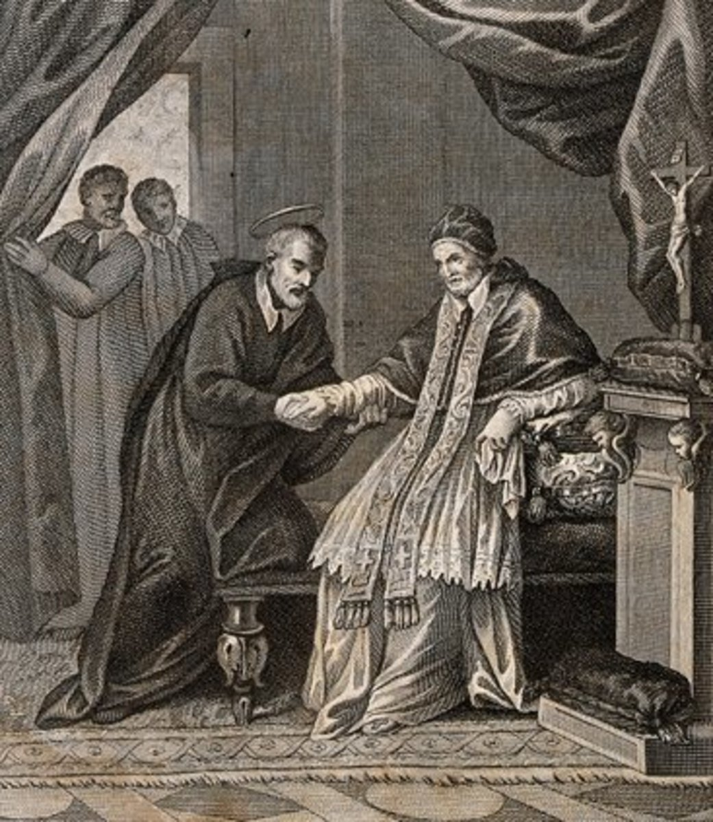 St. Philip heals Pope Clement's gout.