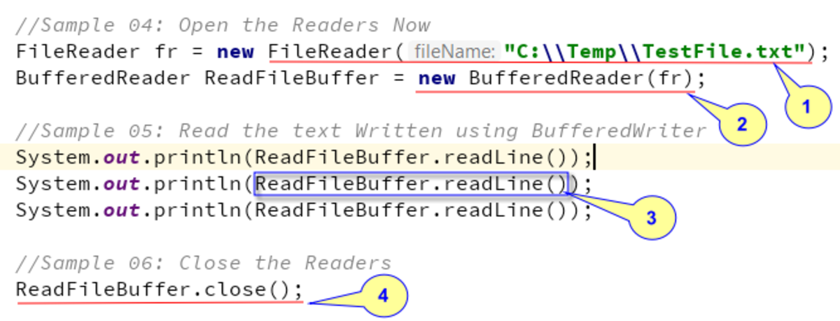 Reading Text file content using Java's BufferedReader