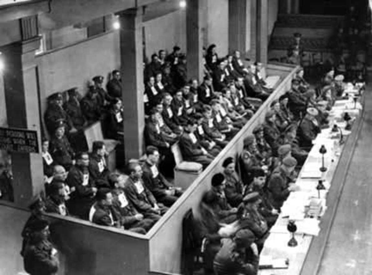 Pictured here is the Trial of Adolf Eichmann in Jerusalem for war crimes. Eichmann was captured by the Israelis in 1960, taken to Israel, tried as a war criminal and hanged in 1962.