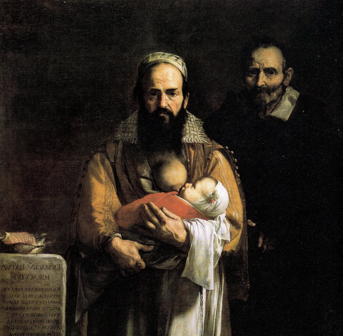 Magdalena Ventura was painted in a way to make her appear more masculine than her husband. She developed facial hair after the birth of her last son.