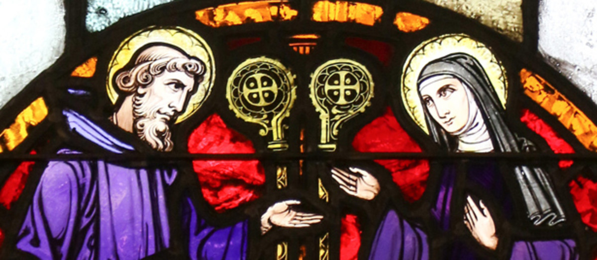 St. Benedict and Scholastica, holy twins.