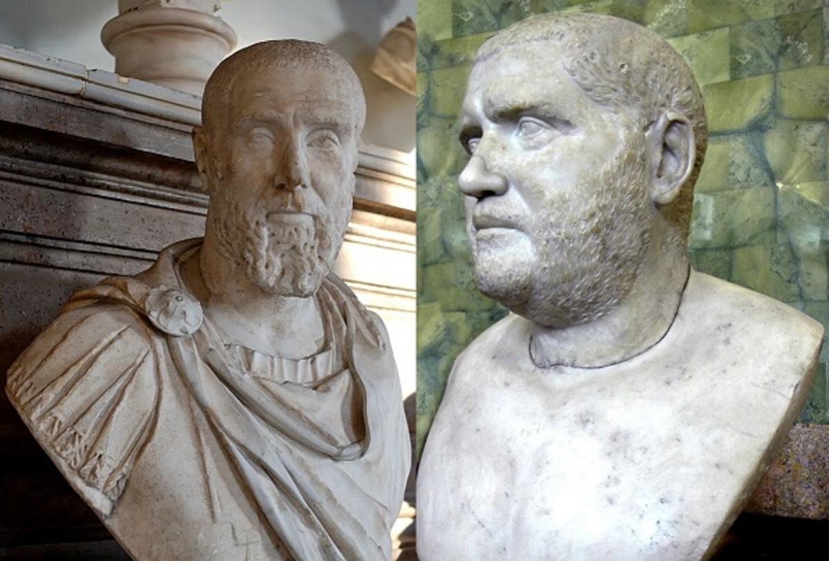 Pupienus (left) and Balbinus (right).