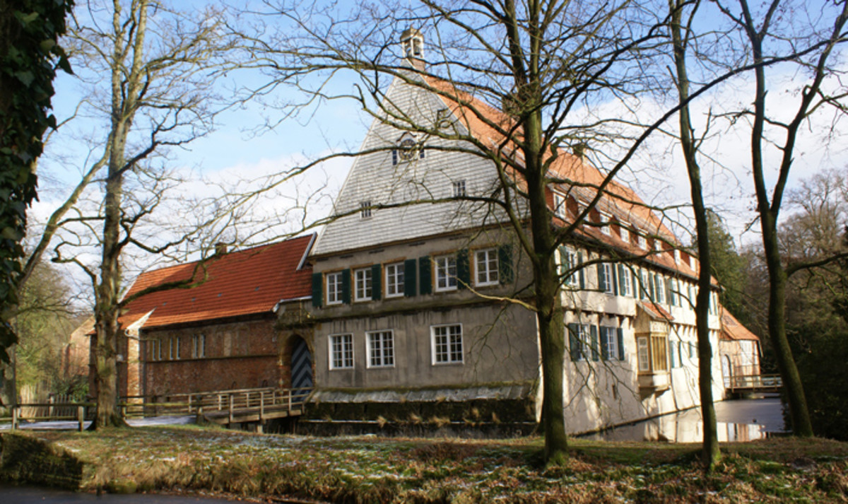 Burg Dinklage, von Galen's family home, is now home to a thriving community of Benedictine nuns. Christopher von Galen, nephew of the bishop, donated the house.