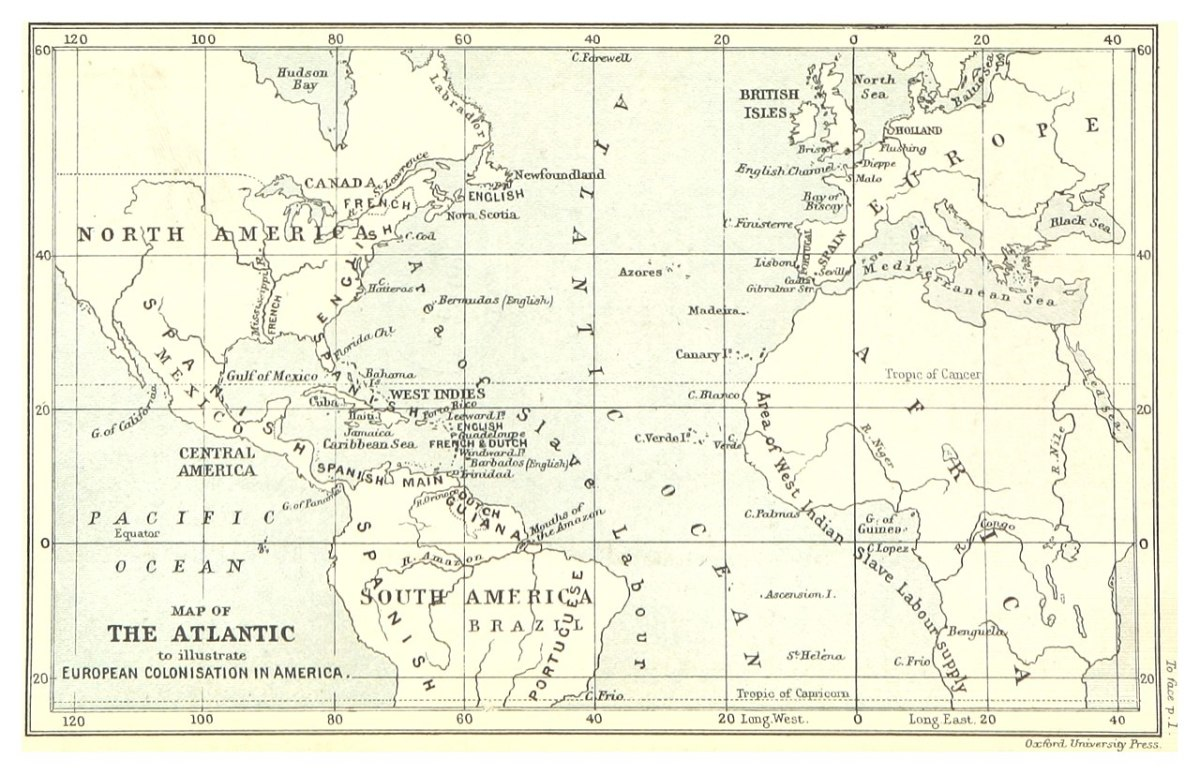 A map of the Atlantic slave trade