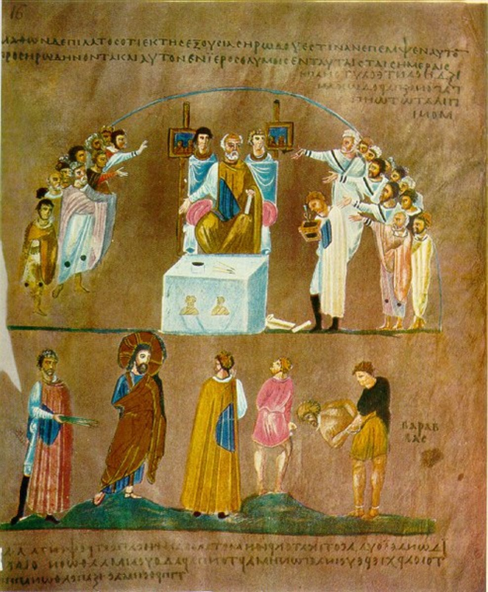 Figure 2: Christ before Pilate, Rossano Gospels
