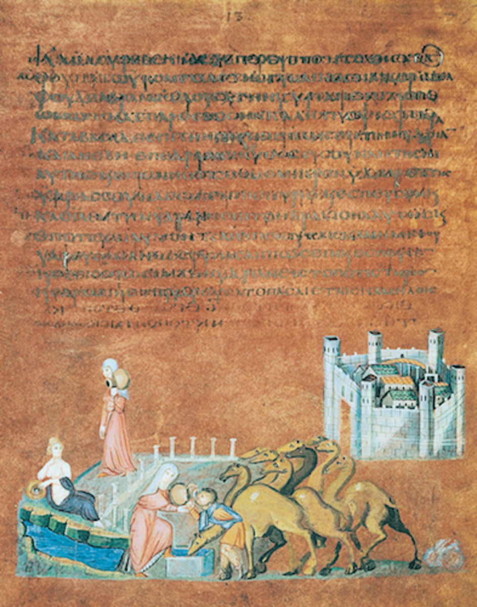 Figure 1: Rebecca and Eliezer at the Well