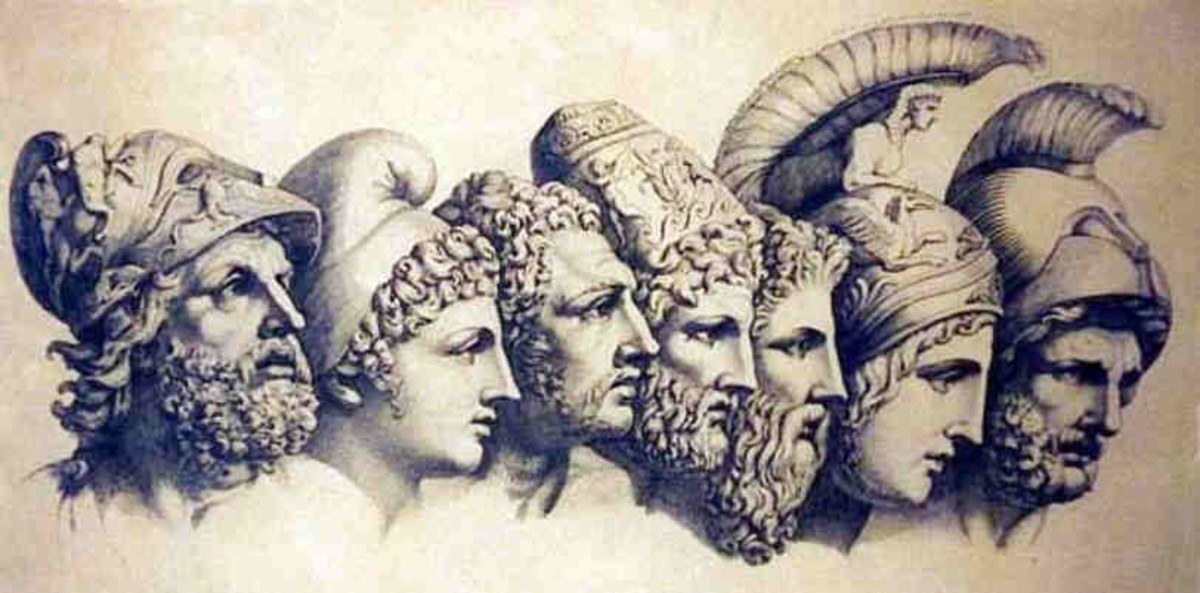 The Greek goddesses and gods of war were led by Ares and Athena, and included various war gods including Eris (Strife), Deimos (Terror) and Phobos (Fear).