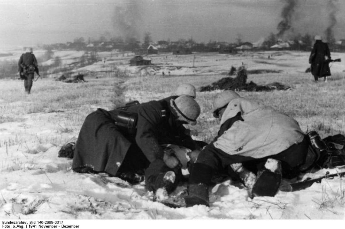 A casualty during Operation Barbarossa.