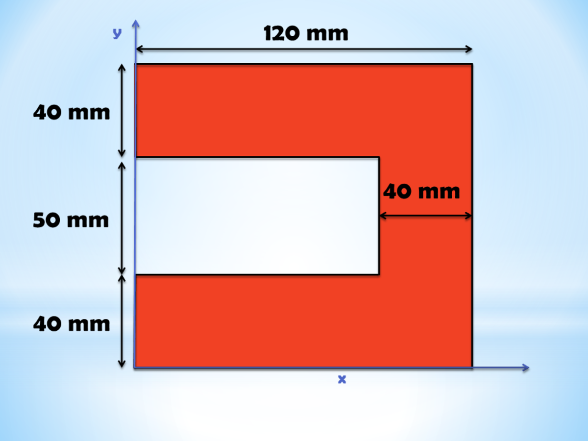 Centroid for Complex Figures: C-shapes