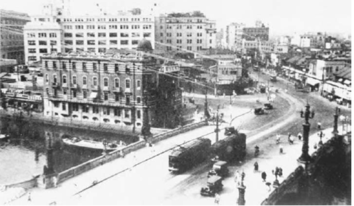 A Tokyo street scene in 1933, showing the tremendous change that Japan had experienced over the previous three quarters of a century. The uniqueness of the Meiji revolution continues to be a fascinating historical subject.