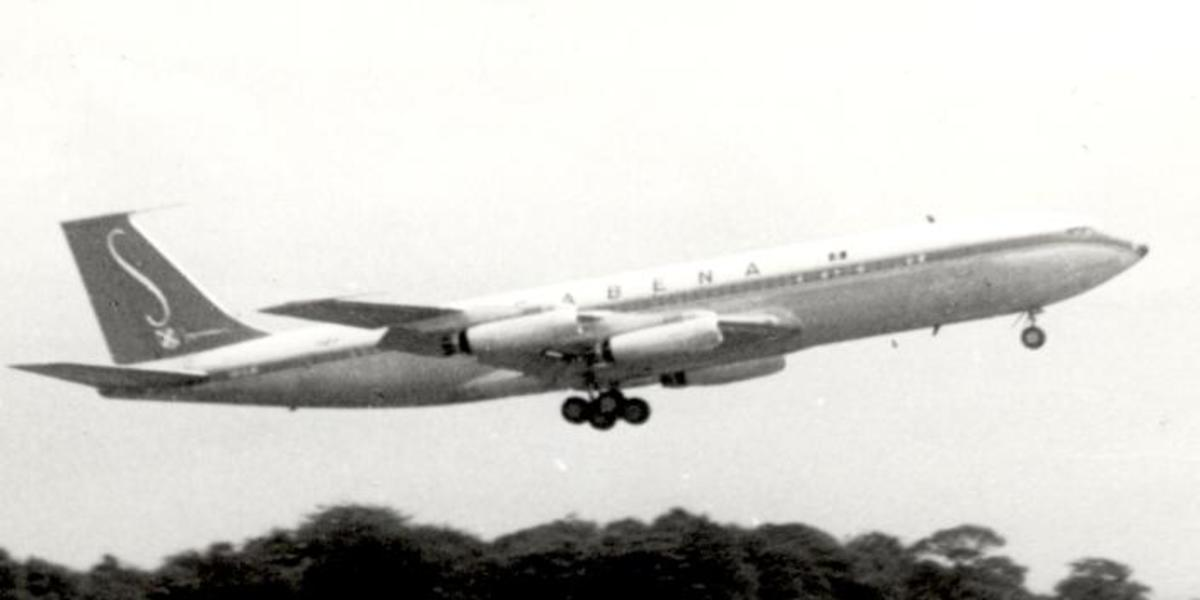 A Sabena Boeing 707-329, 1960.