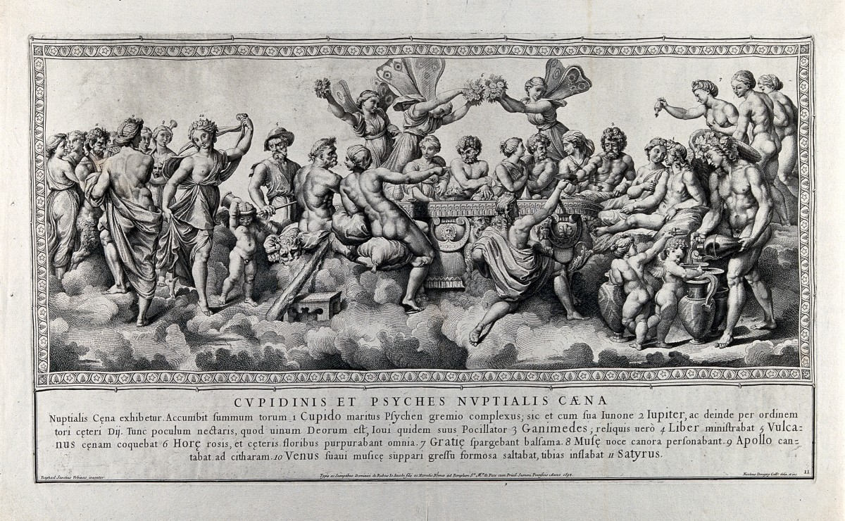 The Wedding Feast of Eros and Psyche! See all the gods and goddesses in attendance?