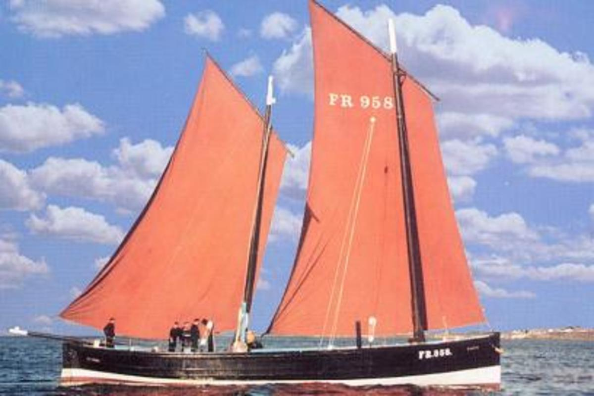 Restored Scottish lugger the Reaper.