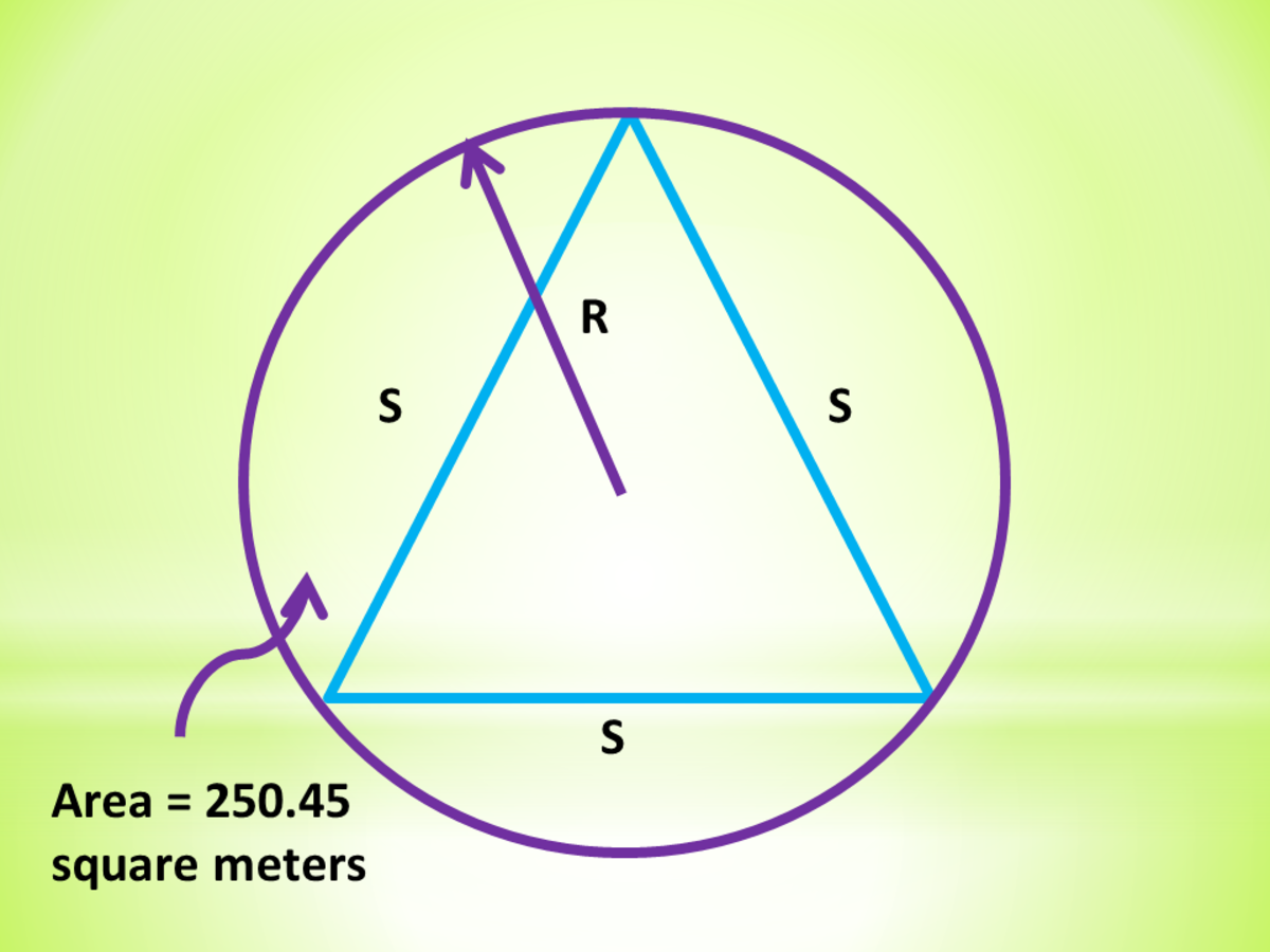Circle Circumscribing an Equilateral Triangle: Calculator Techniques for Circles and Triangles in Plane Geometry