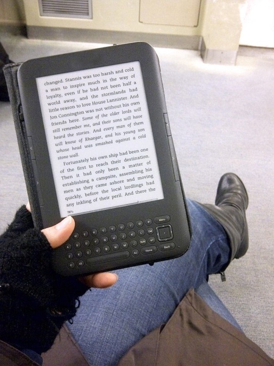 You can customize the font size for eBooks.