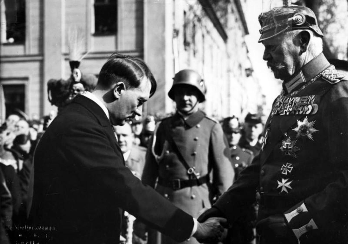 Adolf Hitler and Paul von Hindenburg.