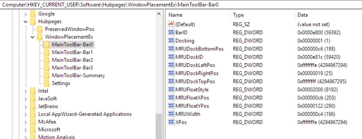 Application Key in Registry