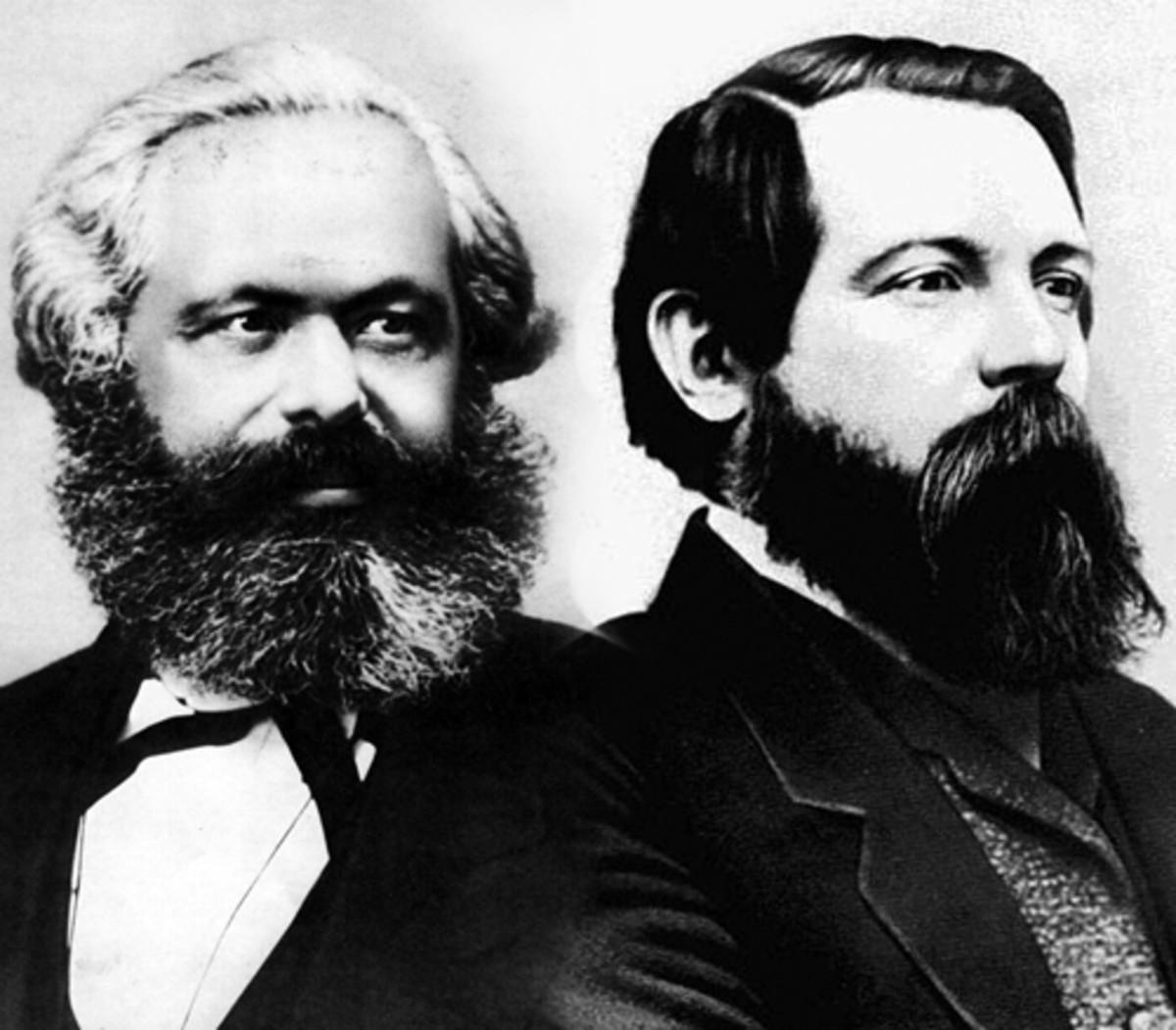 Karl Marx and Freidrich Engels.