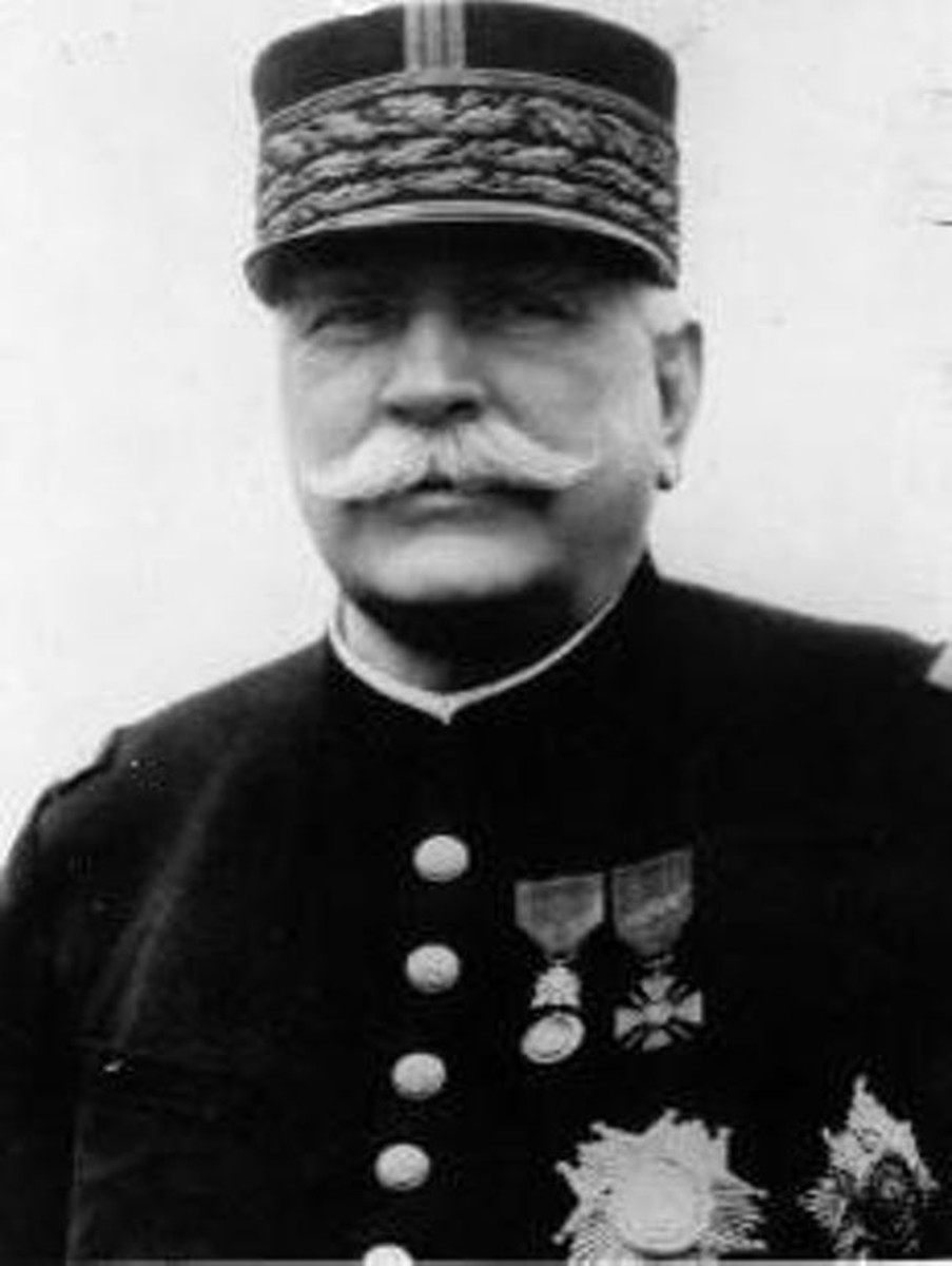 Joseph Joffre, who did much to change the French army before the war, probably for the worse, but also had the needed resolve to keep it fighting in dark circumstances.