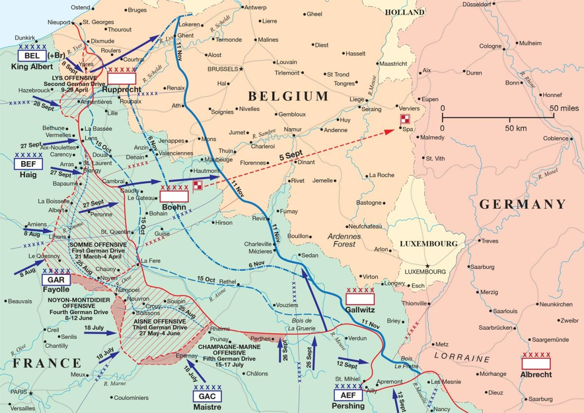 The Hundreds Day Offensive which knocked the Germans out of the war.