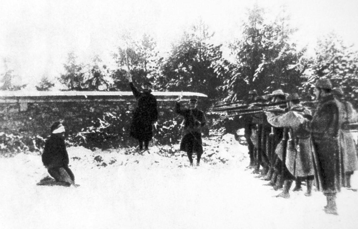 A mutineer executed