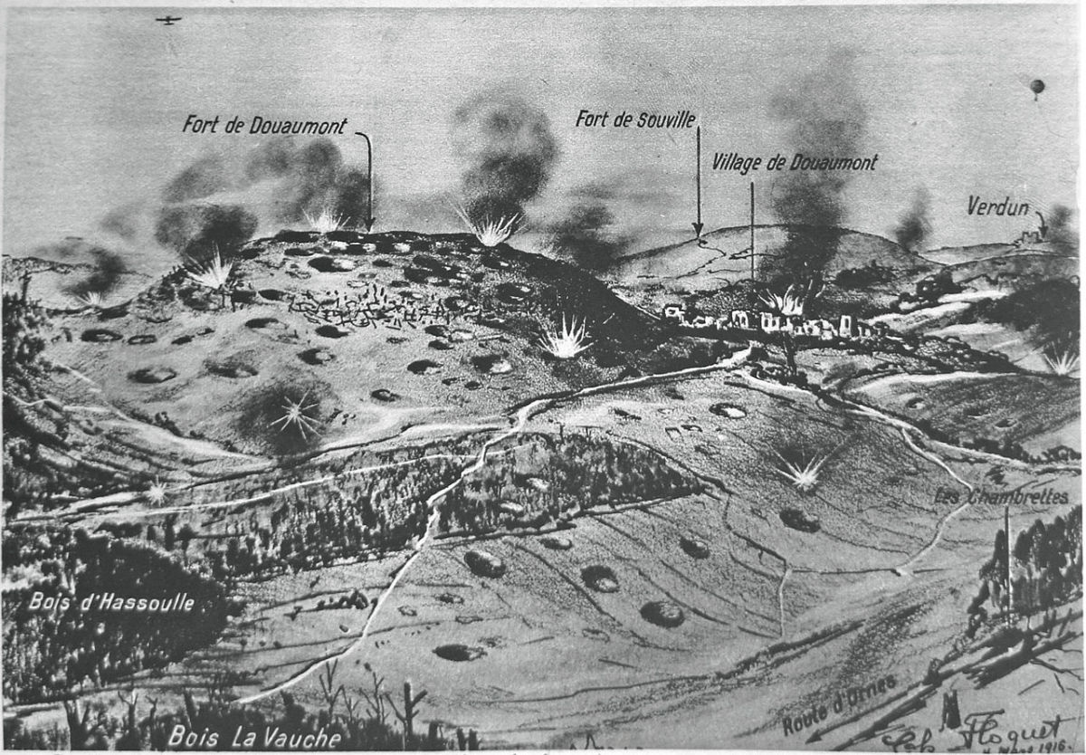 Part of the lengthy and bloody battle of Verdun
