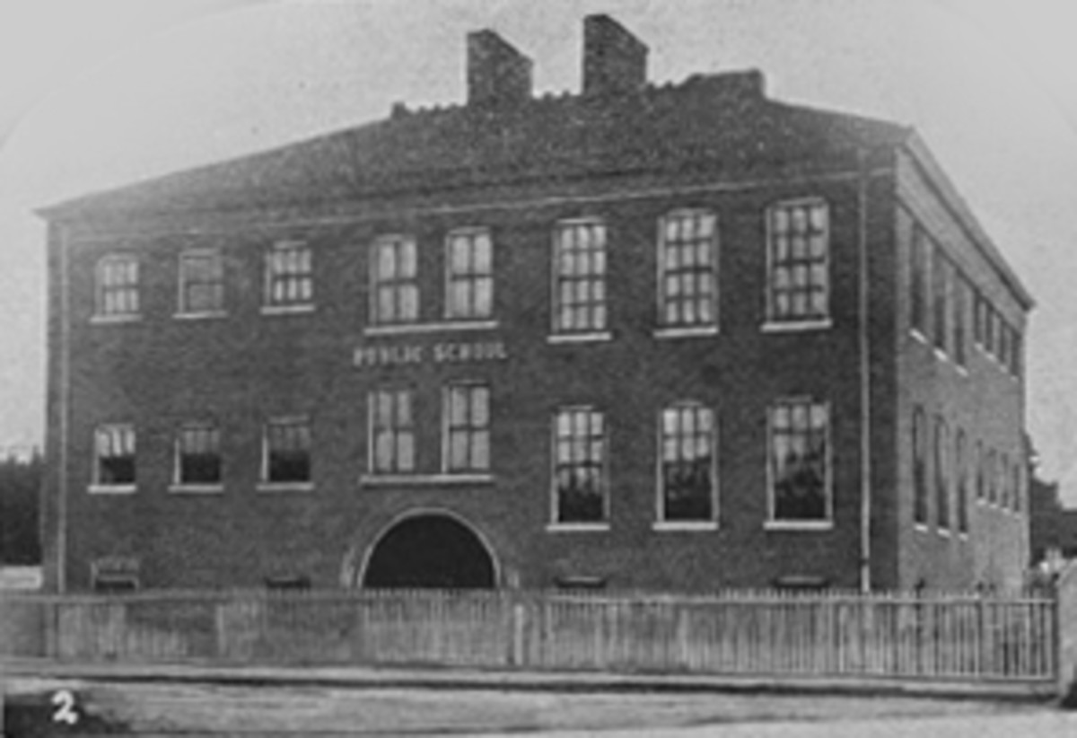 The second Clay Street School, later renamed the Kortrecht School.  It was built in 1871.  It is likely that Wells taught in a school like this.