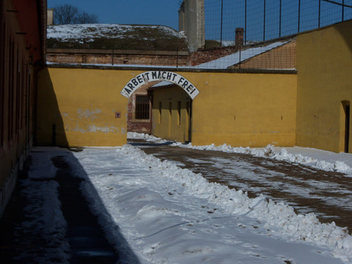 The entrance to Theresienstadt.