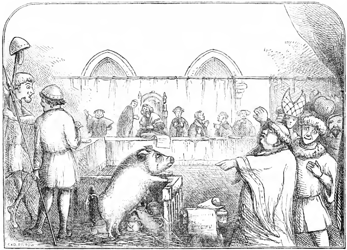 """Trial of a sow and pigs at Lavegny"""